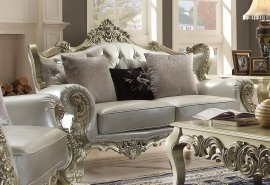 Traditional Victorian HD-13006-L Loveseat in Silver by Homey Design