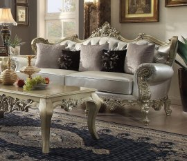 Traditional Victorian Royal HD-13006-S Sofa in Silver by Homey Design