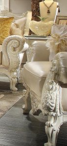 Traditional HD-13009-C Arm Chairs in Cream by Homey Design