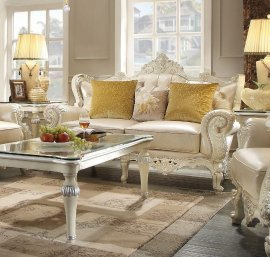 Traditional HD-13009-L Loveseat in Cream by Homey Design