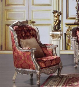 Traditional Luxury Gold HD-1880-C Arm Chairs in Gold by Homey Design