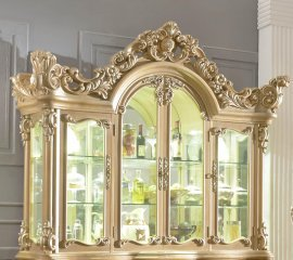 Traditional Gilded Ornately HD-7012 China Cabinet by Homey Design
