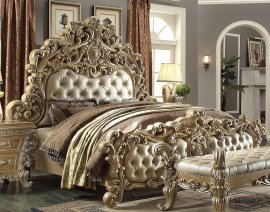 Traditional Gilded HD-7012 California King Bed in Brown by Homey Design