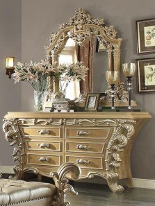 Traditional Gilded HD-7012-DM Dresser in Beige by Homey Design