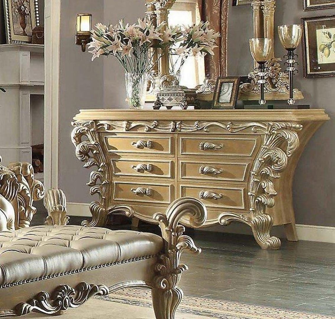 Traditional Gilded HD-7012-DR Dresser in Beige by Homey Design
