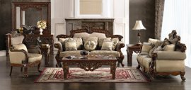 Traditional Hazelnut HD-296-SLC Sofa Set by Homey Design