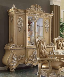Traditional Victorian Ornately HD-7266 China Cabinet by Homey Design