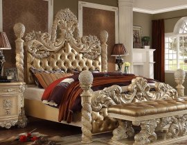 Traditional Victorian HD-7266 California King Bed in Brown by Homey Design
