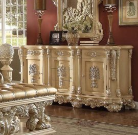 Traditional Victorian Ornately HD-7266-DR Dresser in Gold by Homey Design