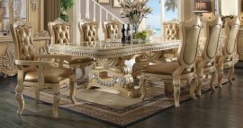 Traditional Victorian HD-7266-DT-SET Dining Table Set 9 Pcs by Homey Design