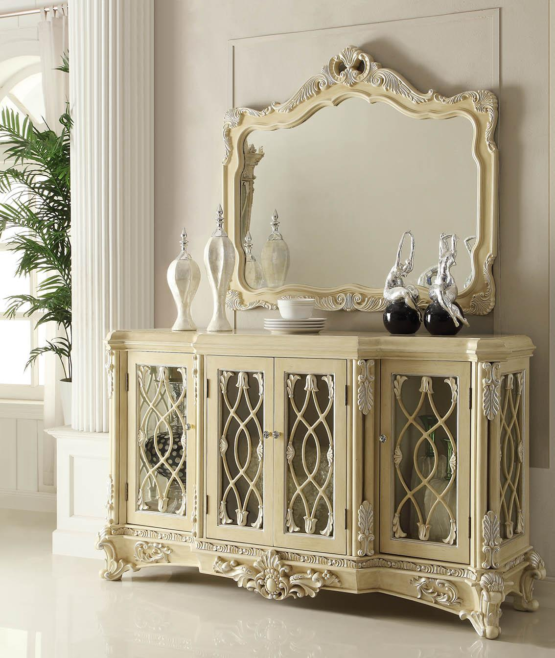 Traditional Luxury Cream HD-5800-BM Buffet 2 Pcs by Homey Design