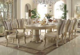 Traditional Luxury HD-5800-D-Set Dining Table Set 9 Pcs by Homey Design