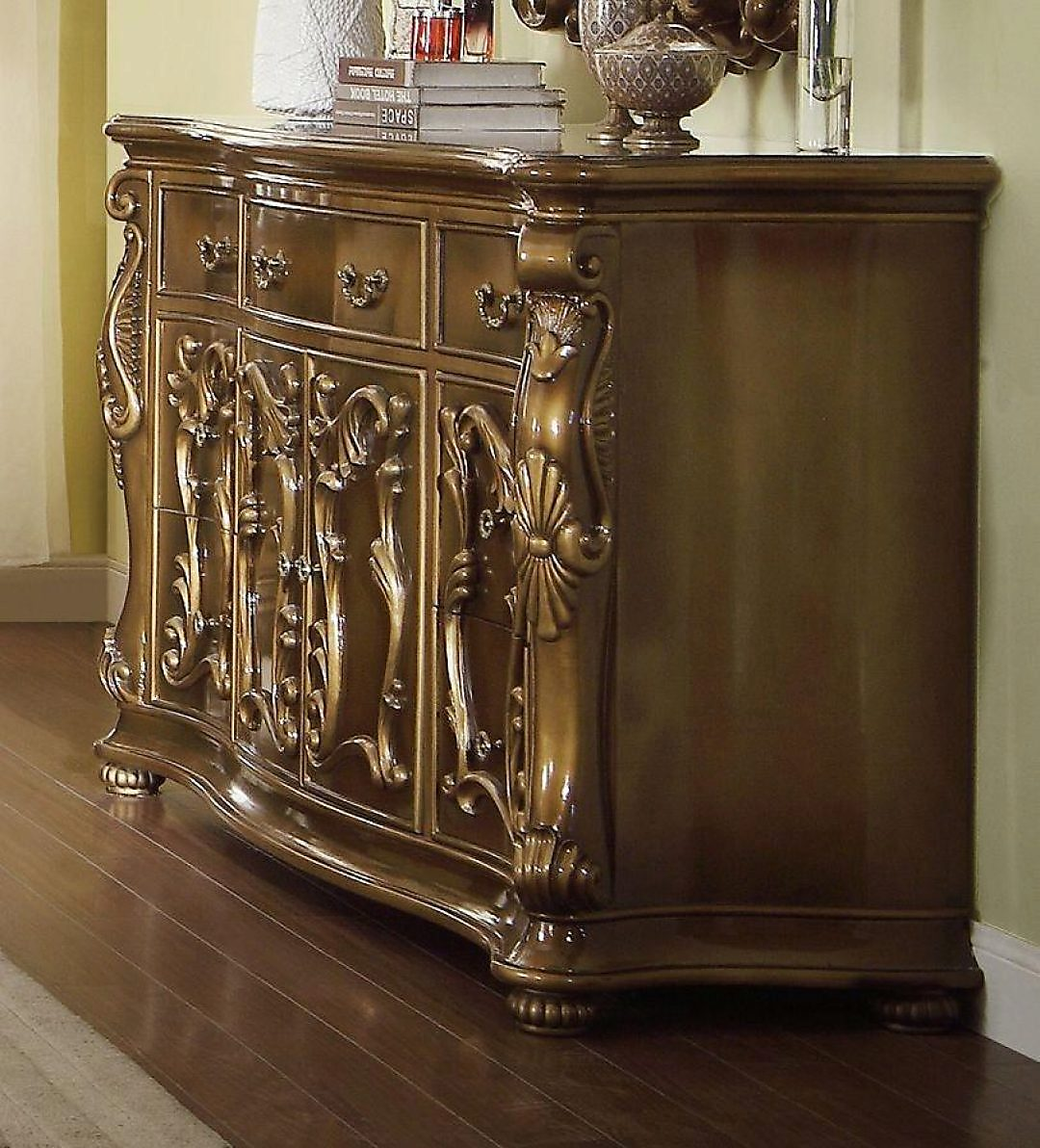Traditional Luxury HD-8008-D Gilded Dresser by Homey Design