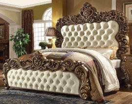 Traditional Rich HD-8011 California King Bed in Walnut by Homey Design