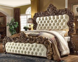 Traditional Rich HD-8011 King Bed Bed in Walnut by Homey Design