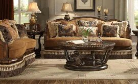 Traditional Luxury HD-9344-SL Sofa and Loveseat Set 2Pcs by Homey Design