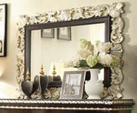 Traditional Classic HD-1208 Mirror in White by Homey Design