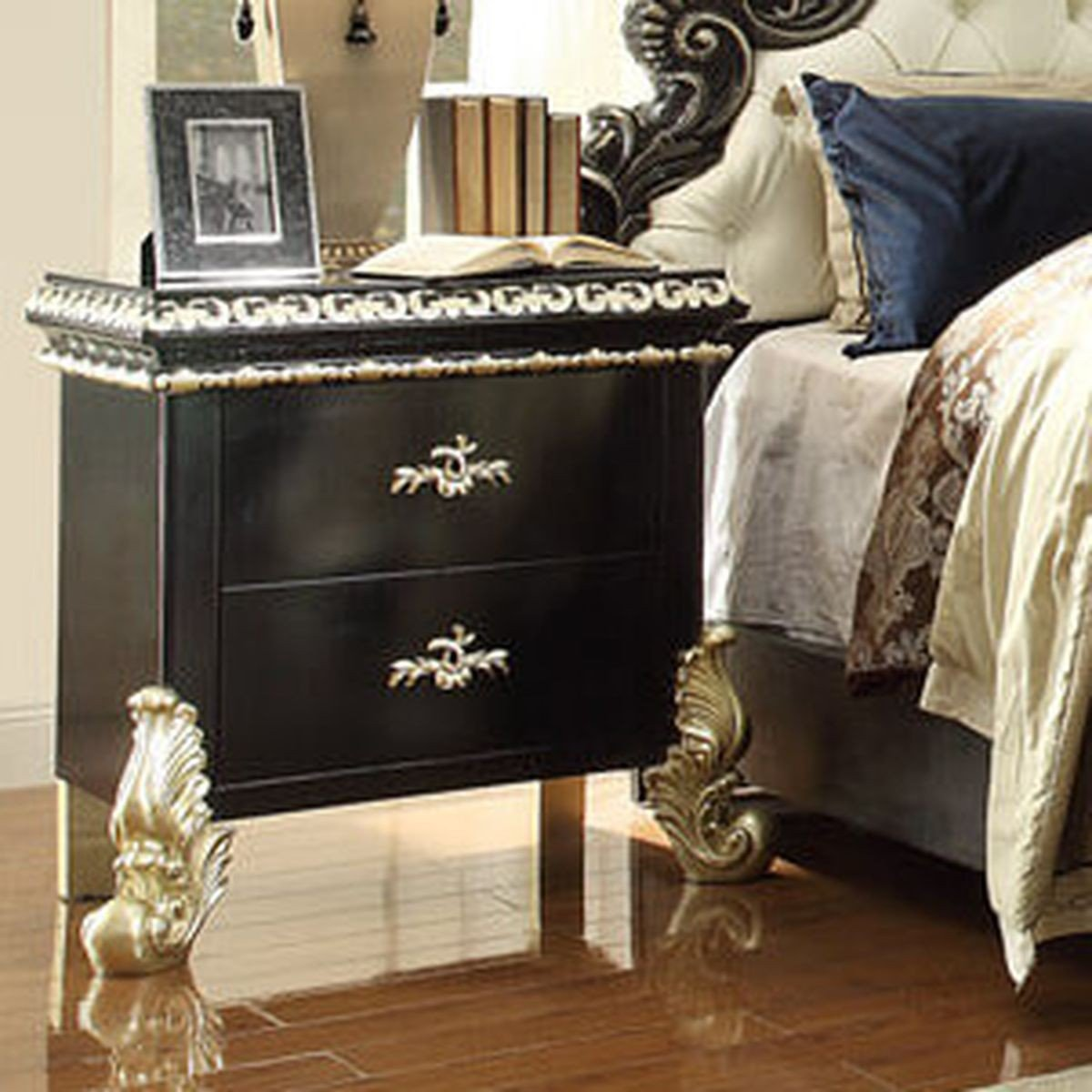 Traditional Classic Royal HD-1208 Nightstand in Brown by Homey Design