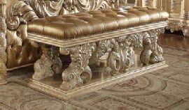 Traditional Victorian Ornately HD-7266 Bench in Beige by Homey Design