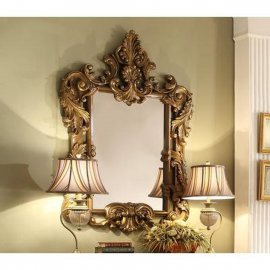 Traditional Luxury Gilded HD-8008 Mirror in Brown by Homey Design