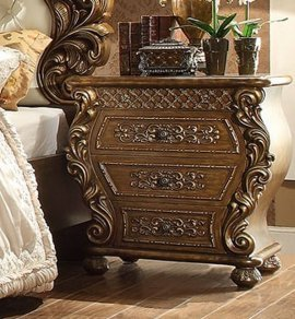 Traditional Rich HD-8011 Nightstand in Brown by Homey Design
