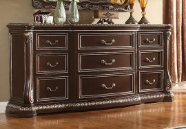 Traditional Classic Cherry HD-8013 Dresser by Homey Design
