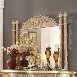 Traditional Classic Ivory HD-8015 Mirror in Gold by Homey Design