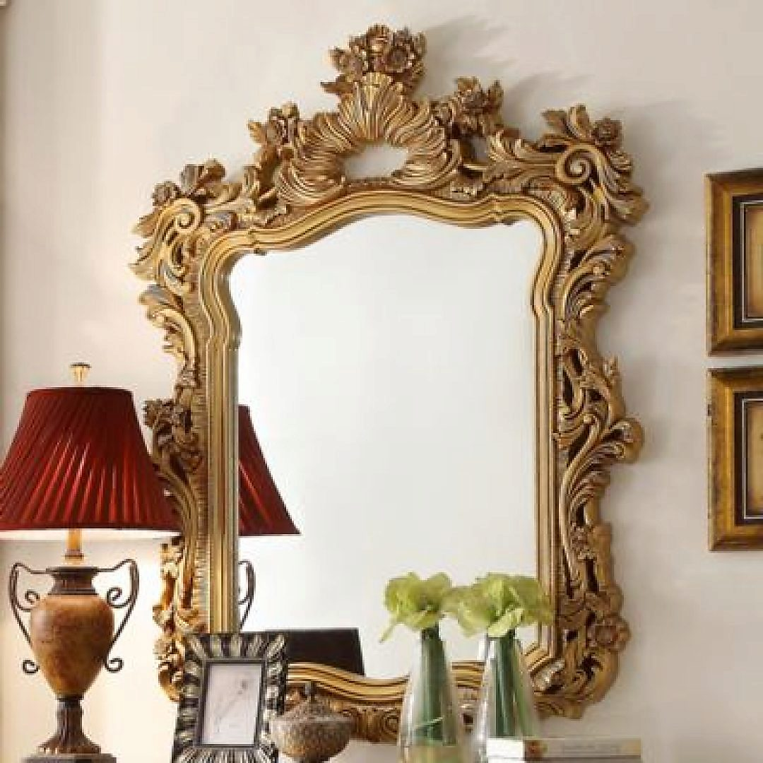 Traditional Royal Antique HD-8016 Mirror in Gold by Homey Design