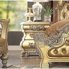 Traditional Royal HD-8016 Gilded Nightstand by Homey Design