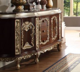 Traditional Royal Antique HD-8017 Dresser in Brown by Homey Design