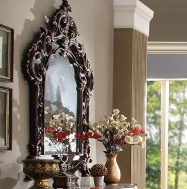 Traditional Royal Antique HD-8017 Mirror in Brown by Homey Design