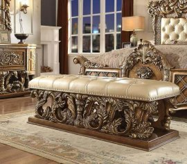 Traditional Classic HD-8018 Gilded Bench by Homey Design