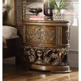 Traditional Classic Gilded HD-8018 Nightstand in Brown by Homey Design