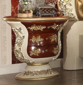 Traditional Classic HD-8019 Gilded Nightstand by Homey Design