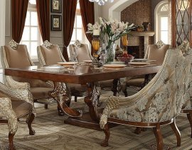 Traditional Luxury HD-124 Dining Table in Brown by Homey Design