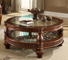 Traditional Luxury HD-1521 Coffee Table in Brown by Homey Design