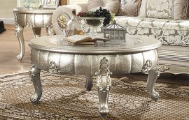 Traditional Antique HD-1560 Coffee Table in Gray by Homey Design