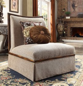 Traditional Victorian HD-1627 Chair in Beige by Homey Design