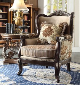 Traditional Carved HD-1976 Chair in Beige by Homey Design