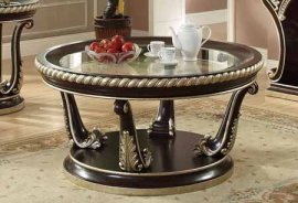 Traditional Luxury HD-213 Gilded Coffee Table in Brown by Homey Design