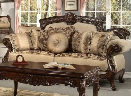 Traditional Hazelnut HD-296 Loveseat in Brown by Homey Design