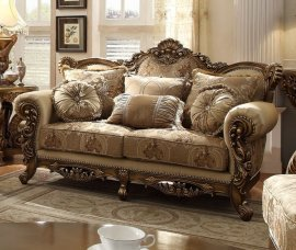 Traditional Luxury HD-506 Gilded Loveseat by Homey Design