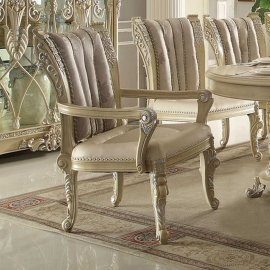Traditional Luxury HD-5800 Gold Arm Chair by Homey Design