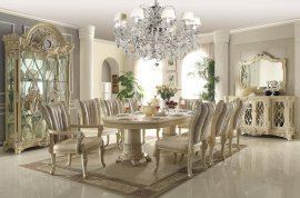Traditional Luxury HD-5800 Dining Table in Beige by Homey Design