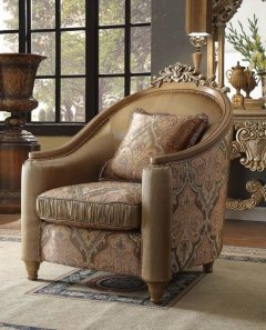 Traditional Luxury HD-622 Chair in Beige by Homey Design