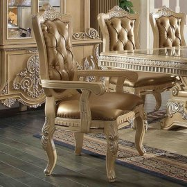 Traditional Victorian Ornately HD-7266 Arm Chair in Beige by Homey Design