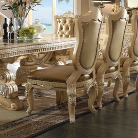 Traditional Victorian Ornately HD-7266 Side Chair in Beige by Homey Design