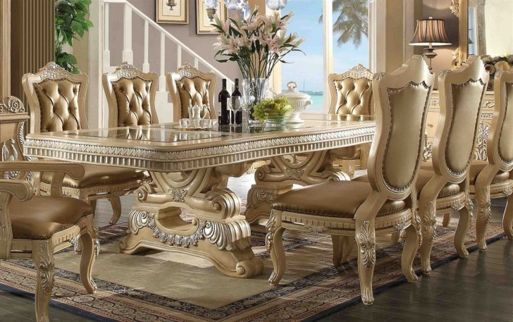 Traditional Victorian Hd 7266 Dining Table In Beige By Homey Design