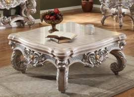 Traditional Antique HD-8001 Coffee Table in Beige by Homey Design