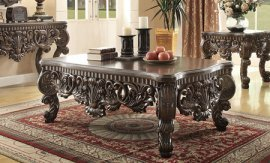 Traditional Carved HD-8006 Coffee Table in Brown by Homey Design